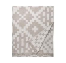HUVILA - Merino Wollen Plaid - Beige/Wit - 150x170