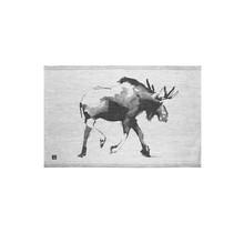 HIRVI - Theedoek - Zwart/Grijs -  46x70