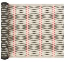 TULITIKKU - Sauna Seat Cover - Linen/Black/Red - 46x150