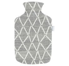 PUIKKO - Hot Water Bottle - Grey/White