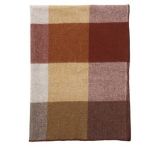BLOCK - Wollen Plaid - Roest - 130x180