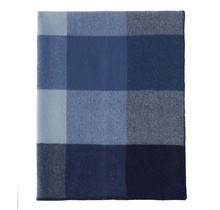 BLOCK - Plaid en laine - Bleu - 130x180