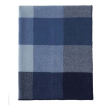 BLOCK - Wollen Plaid - Blauw - 130x180