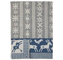 LAPPLAND - Wool Plaid - Blue/Grey - 130x180