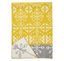 TRADITION - Wool Plaid - Yellow/Grey - 130x180