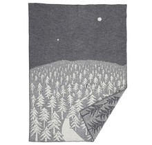 HOUSE IN THE FOREST - Wool Plaid - Grey - 130x180