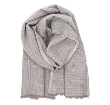 KOLI - Wool Scarf - Beige White - 60x220