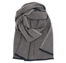 KOLI - Écharpe en laine - Beige Noir - 60x220