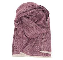 KOLI - Wool Scarf - Beige Bordeaux - 60x220