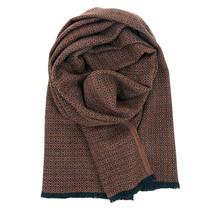 KOLI - Wool Scarf - Black Orange - 60x220