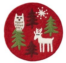 CHRISTMAS FOREST - Support de pot - Rond - 21cm