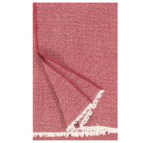 SARA - Plaid en laine - Rouge - 140x180