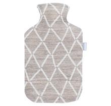 PUIKKO - Hot Water Bottle - Beige/White