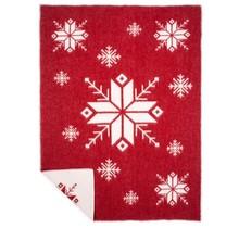 JOLAROS RED - Couverture en laine - 130x180 - Rouge