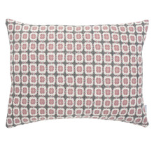 CORONA - Cushion - Grey/Pink - 50x40