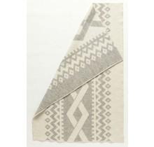 FLETTA - Couverture en laine - 130x180 - Gris