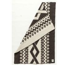 FLETTA - Woolen Blanket - 130x180 - Black