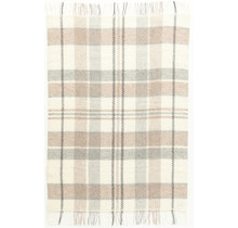ALAFOSS - Шерстяное одеяло - 130x180 - Бежевый / Коричневый / Серый