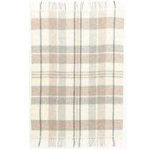 ALAFOSS - Woolen Blanket - 130x180 - Beige/Brown/Grey