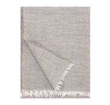 SARA - Plaid en laine - Beige - 140x180