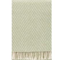 IIDA - Couverture en laine - Vert clair - 130x200