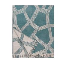 HIMMELI - Wollen Plaid - Groen - 140x180