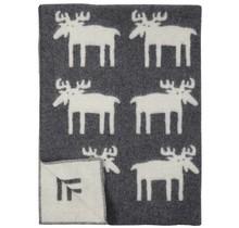 MOOSE - Wool Plaid - Grey/White - 130x180