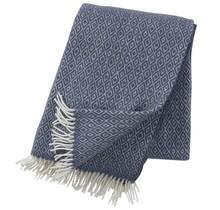 STELLA - Plaid en laine - Bleu fumé - 130x200