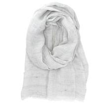 LEMPI - Linen Scarf - White - 70x200