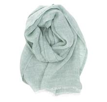 LEMPI - Льняной шарф - Зеленый - 70x200