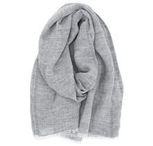 LEMPI - Linen Scarf - Grey - 70x200