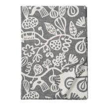 BOTANICAL GARDEN - Wool Plaid - Grey - 130x180