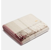 ALPAKA - Classic Check - Alpaca woolen Plaid – Rosé/Beige – 150 x 200