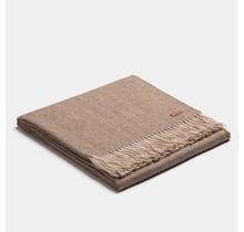 ALPAKA, Exclusive Fishbone, Alpaca-woolen Plaid - Brown/Beige - 130x200