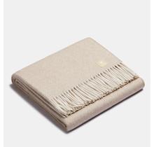 ALPAKA - Classic Fishbone - Alpaca-woolen Plaid – Beige/White – 150x200