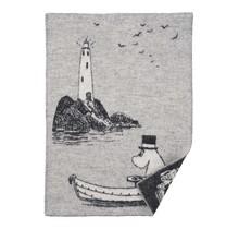 MOOMIN AT SEA - Wool Plaid - Grey/White - 65x90