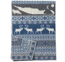 SAREK - Wool Plaid - Blue - 130x180