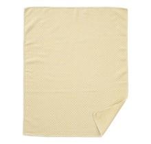 CHEVRON BABY - Cotton baby blanket - Yellow - 70x90