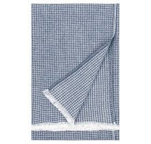 MAIJA - Couverture en coton - Bleu - 130x200