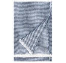 MAIJA - Katoenen plaid - Blauw - 130x200