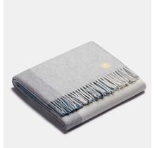 ALPAKA- Классический квадратный градиент - Шерстяной плед из альпаки - Бирюзовый / Синий - 150 x 200