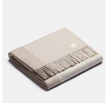 ALPAKA - Классический квадратный градиент - Шерстяной плед из альпаки - Бежевый - 150 x 200