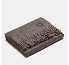 ALPAKA, Classique, Plaid en laine d'alpaga - Gris anthracite - 150 x 200