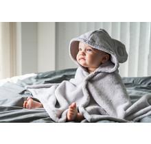 Baby & Cape Handdoek - Parelgrijs - 0-5 jaar