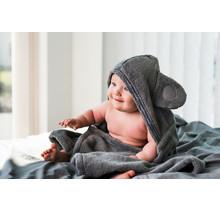 Baby & Cape Handdoek - Granietgrijs - 0-5 jaar