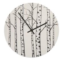 Стильные настенные часы с березовым дизайном, изготовленные из экологически чистых материалов.