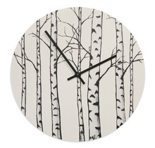 Stilvolle, nachhaltig produzierte Wanduhr im Birch-Design