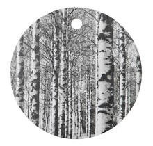 CUTTING BOARD 24CM BIRCH FOREST, BLACK AND WHITE
