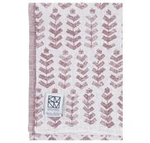 RUUSU x HVITTRÄSK - Bath & Beach towel - white / bordeaux - 95x180