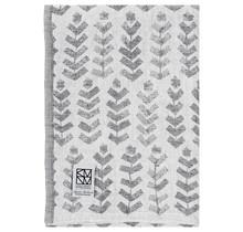 RUUSU x HVITTRÄSK - Bath & Beach towel - white / grey - 95x180